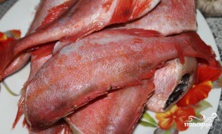Тушеный морской окунь - фото шаг 1