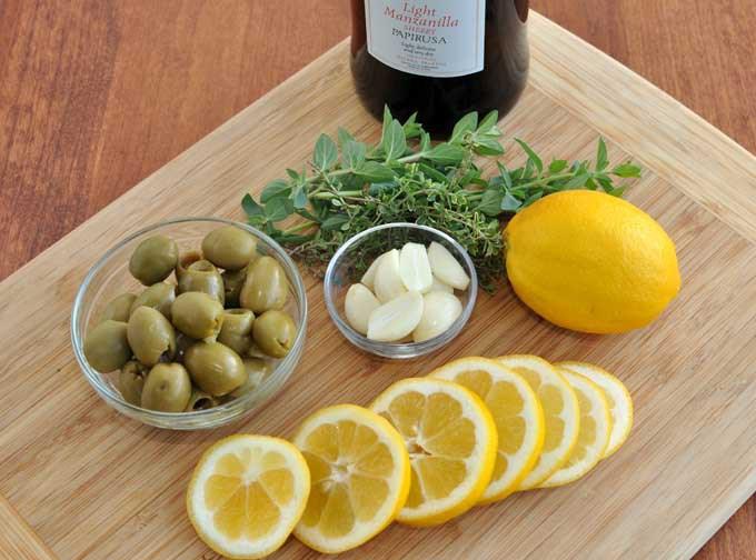 Рецепт Курица с лимоном и оливками