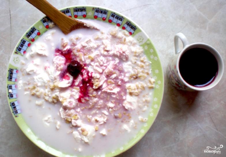 Овсянка с творогом на завтрак - фото шаг 2