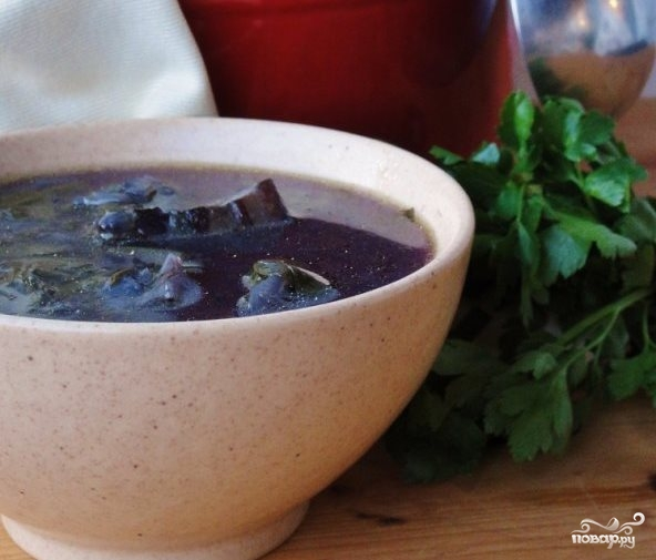 Суп из красной капусты - фото шаг 9
