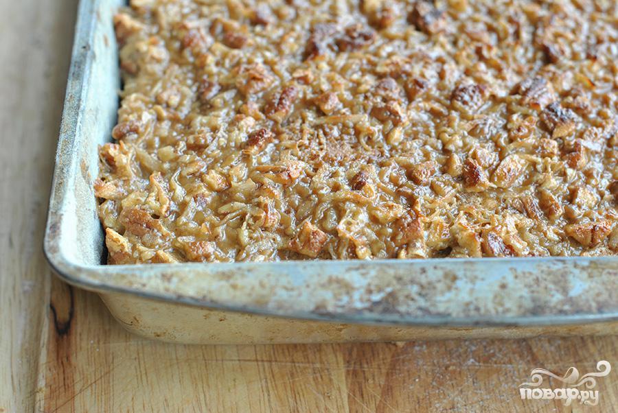 Овсяный пирог с орехами - фото шаг 6