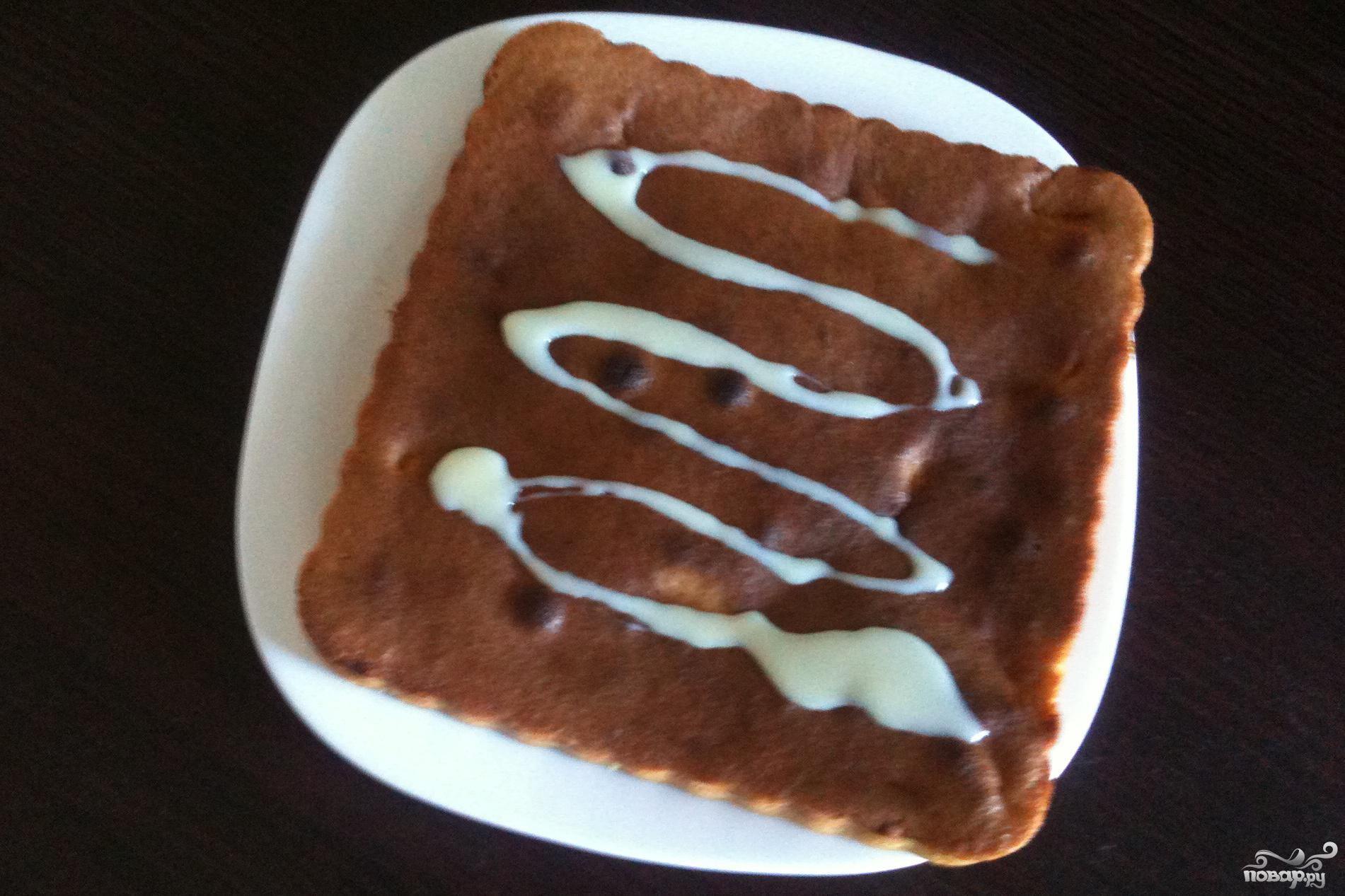 Рецепт Бисквитный пирог с яблоками