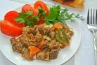 Мясо с морковью
