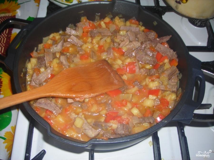 Мясо по-аджарски - фото шаг 12