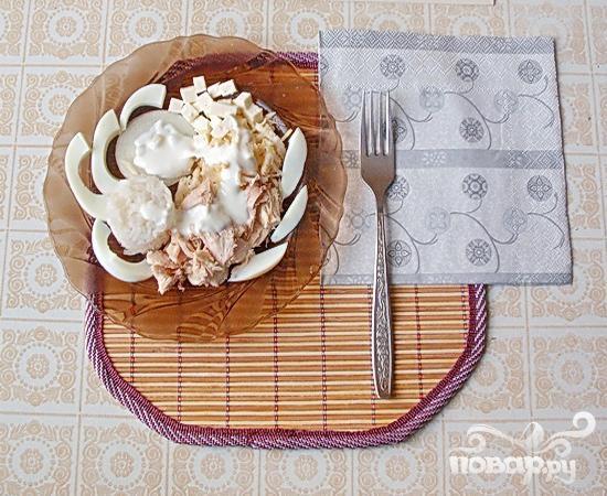 """Белый"" салат с куриной грудкой - фото шаг 6"