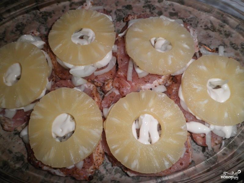 Отбивные с ананасами и сыром - фото шаг 4