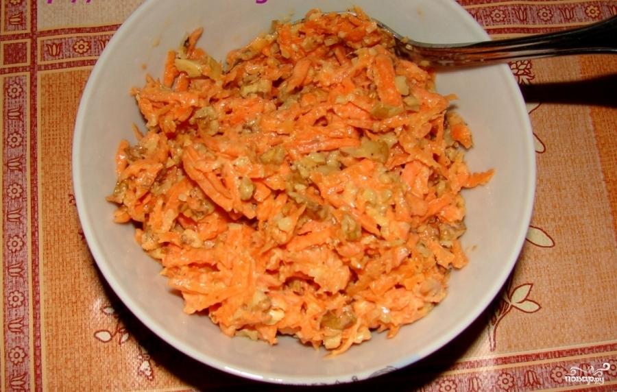 Морковь с грецким орехом - фото шаг 6