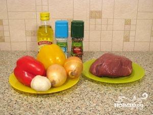 Рецепт Жареная свинина с болгарским перцем