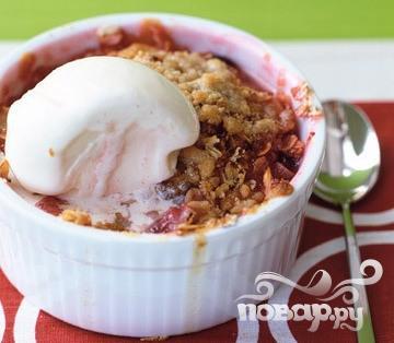 Рецепт Клюквенно-грушевый хрустящий десерт