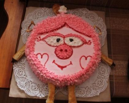 Детский торт для девочки - фото шаг 15