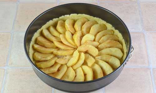 Шарлотка с яблоками открытая - фото шаг 7