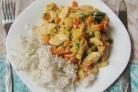 Курица с овощами и рисом