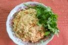 Салат с печенью минтая