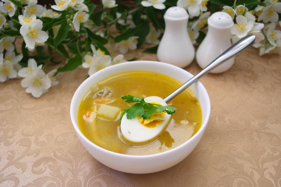 Суп с яйцом и мясом рецепт с пошагово