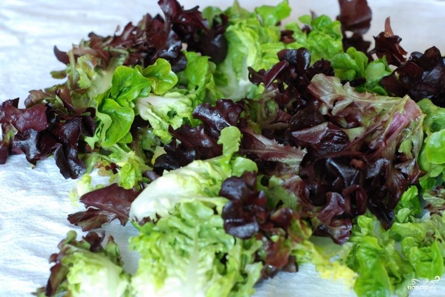 Весенний салат с французской заправкой - фото шаг 3
