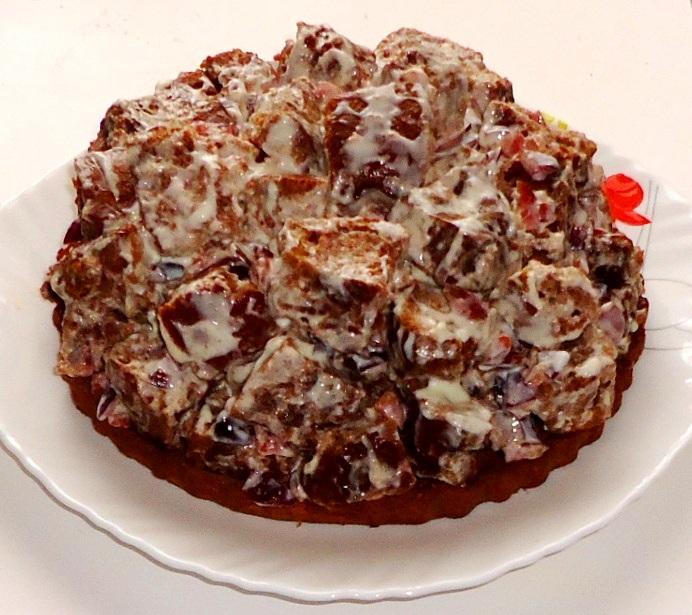 Торт Кучерявый пинчер с вишней - фото шаг 9