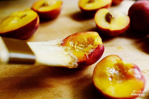Персики на гриле - фото шаг 3