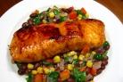 Новогодний лосось с овощами