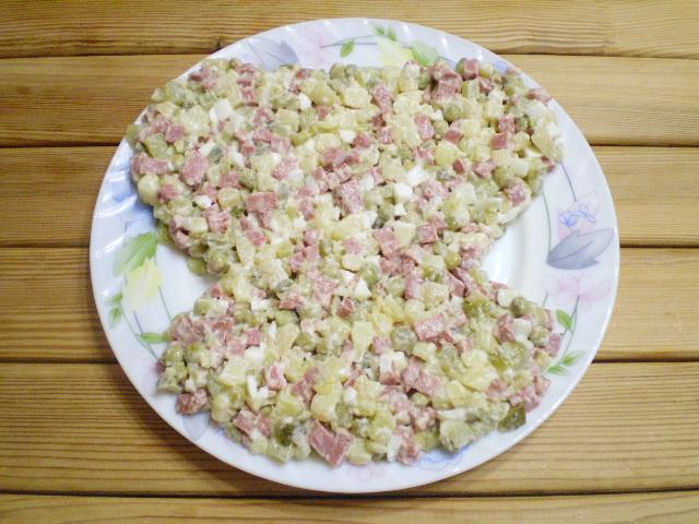 "Салат ""Обезьянка"" оливье - фото шаг 5"