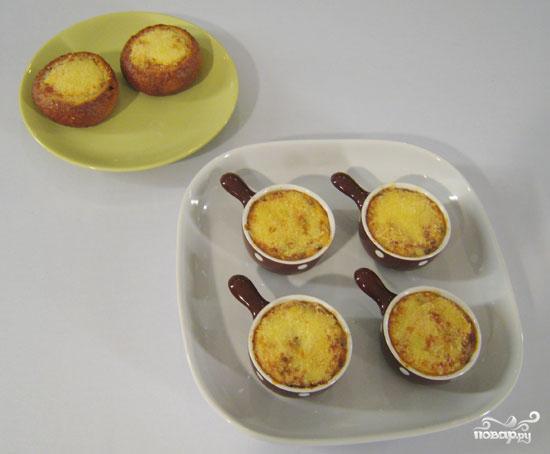 Рецепт Жульен с языком и грибами в сметанном соусе