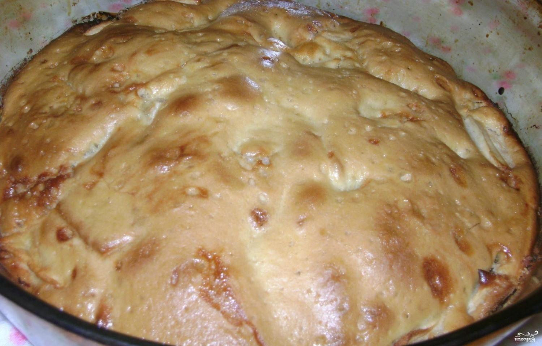 Шарлотка на кефире с яблоками без масла рецепт пошагово в духовке