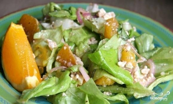 Салат с апельсинами и сыром - фото шаг 7