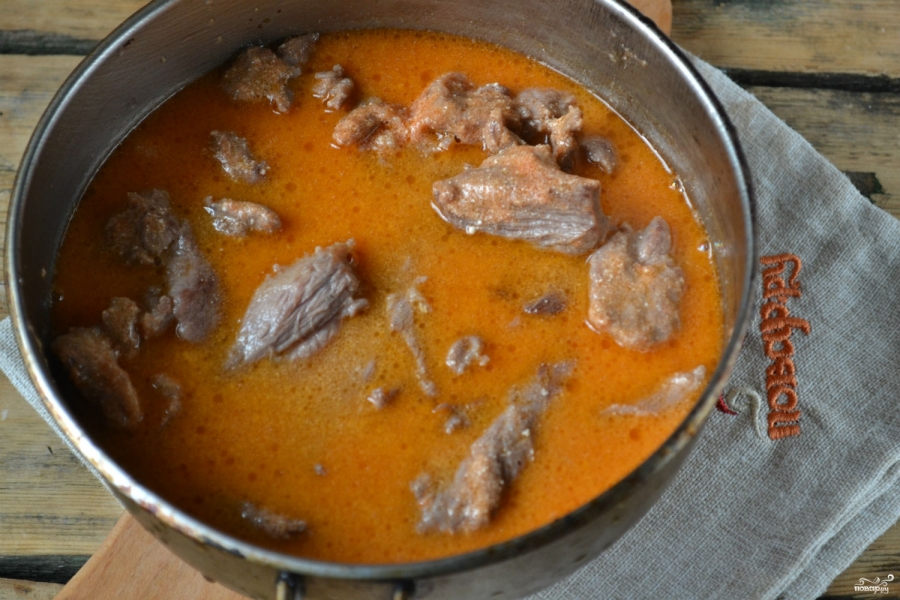 Говядина под сметанным соусом - фото шаг 5