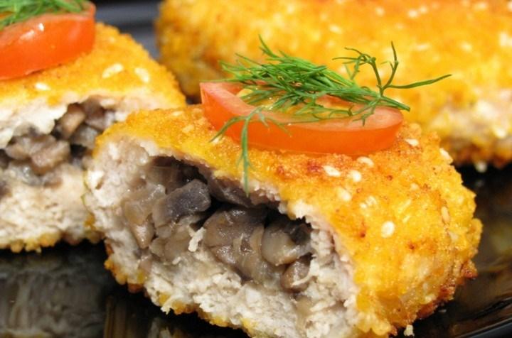 жюльен из курицы с грибами рецепт на сковороде видео