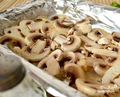 Запеченная картошка с шампиньонами и сыром - фото шаг 1