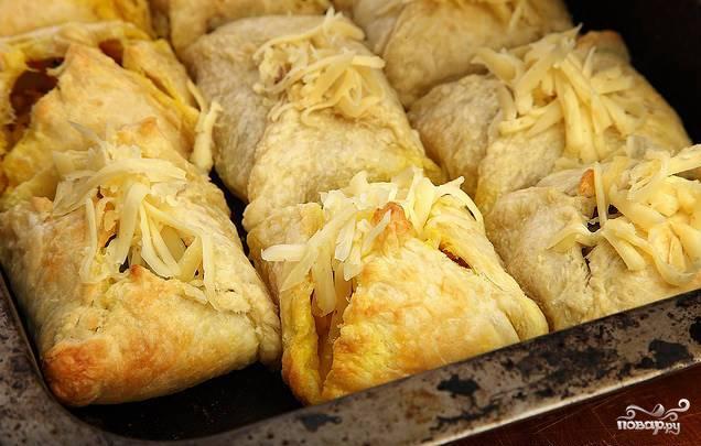 Слоеные пирожки с овощной начинкой - фото шаг 4