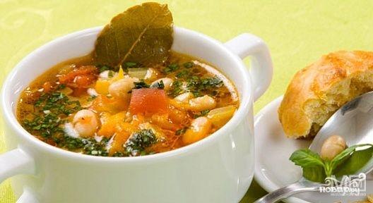 Фасолевый суп без мяса