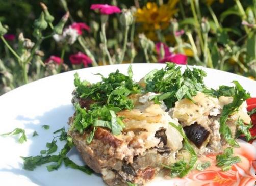 Баклажаны с фаршем на сковороде - фото шаг 5