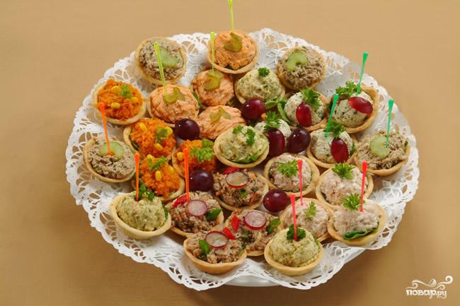 салаты рецепты к праздничному столу в тарталетках
