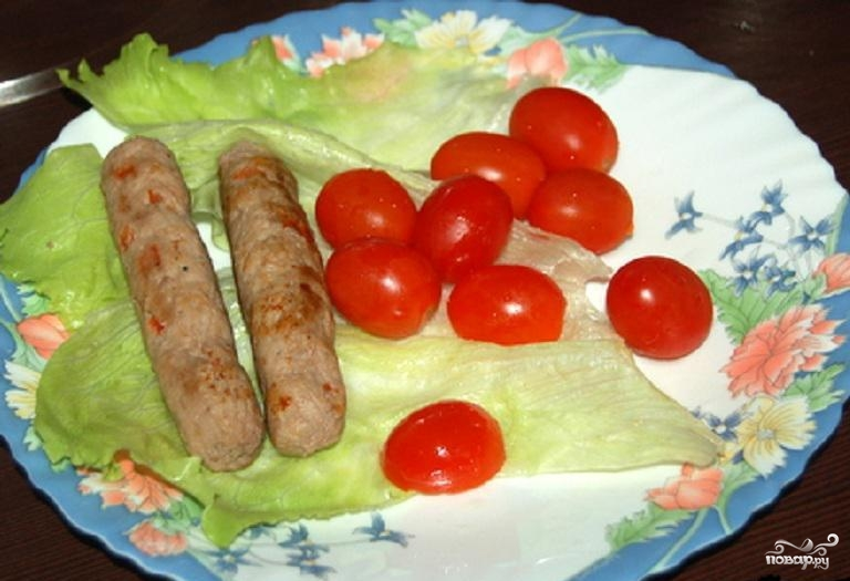 Колбаски фарша рецепт фото