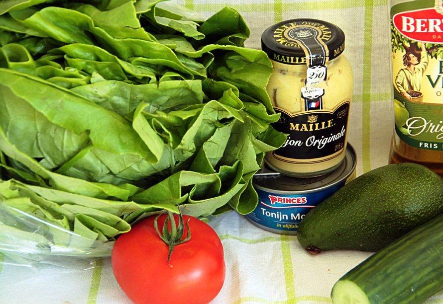 Салат с тунцом копченым - фото шаг 1