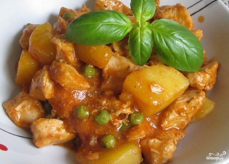 Рагу из картофеля и мяса