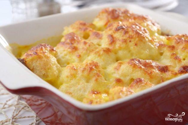 Рецепт Цветная капуста в сметане с сыром