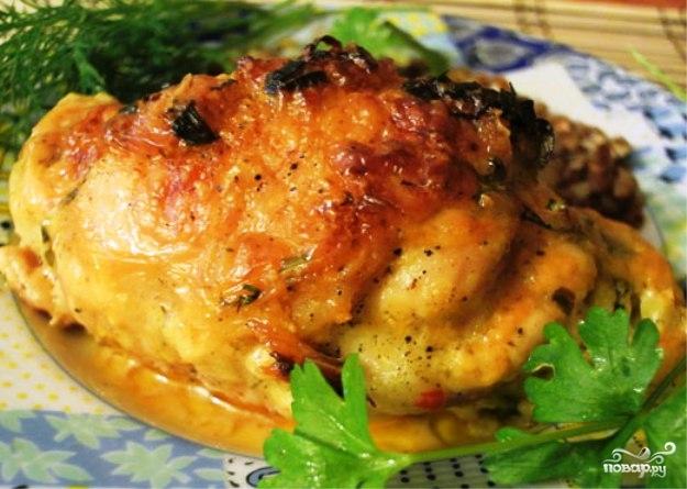 Куриные бедрышки, запеченные с сыром