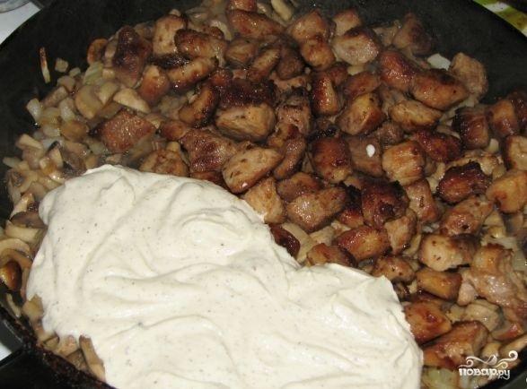 Свинина со свежими грибами - фото шаг 4