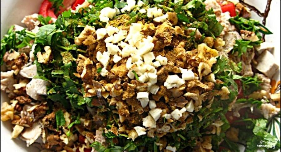 Салат с фасолью и мясом - фото шаг 6
