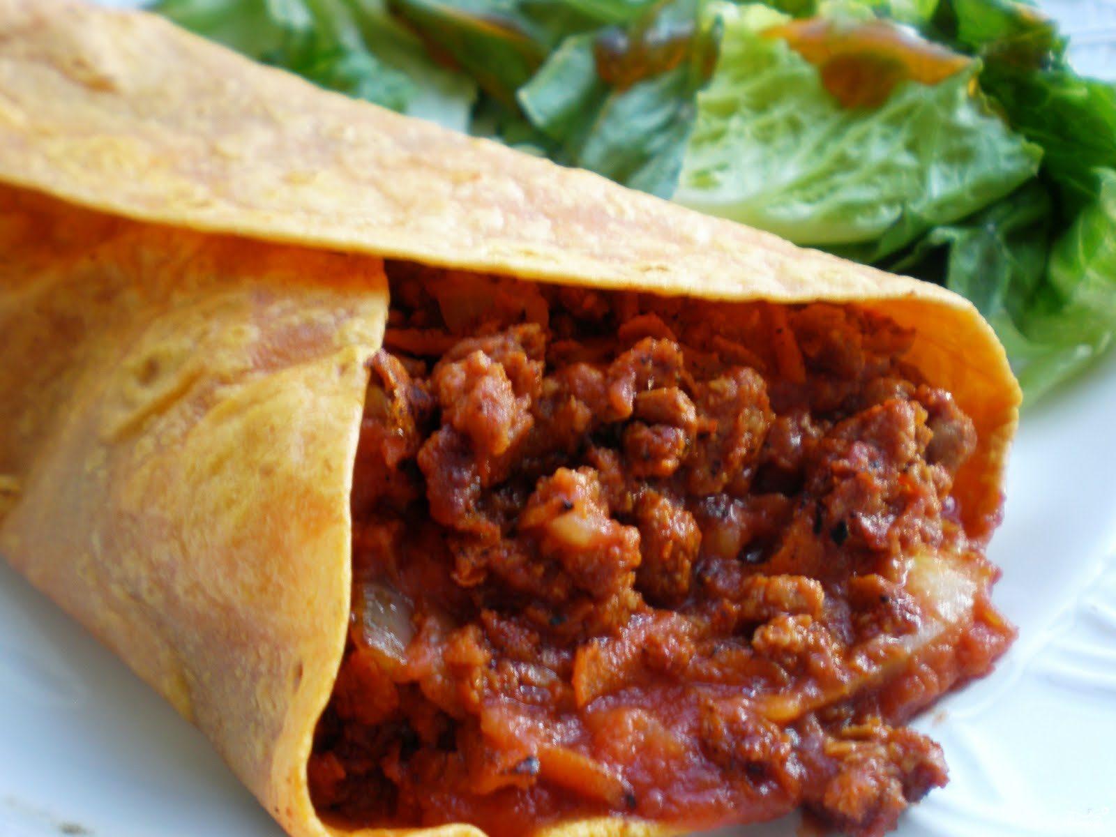 Рецепт Бурито с мясом
