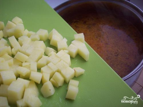 Итальянский суп с грибами - фото шаг 7