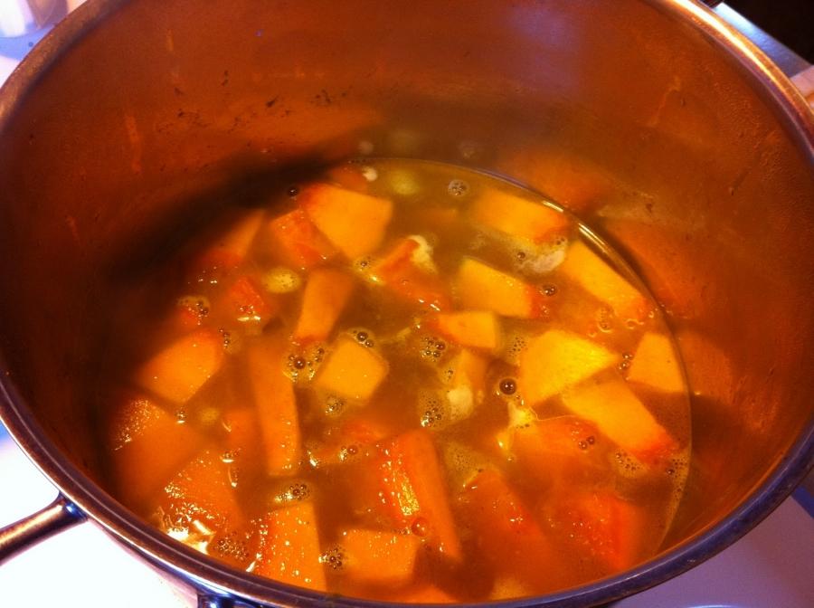Диетический суп из тыквы - фото шаг 3