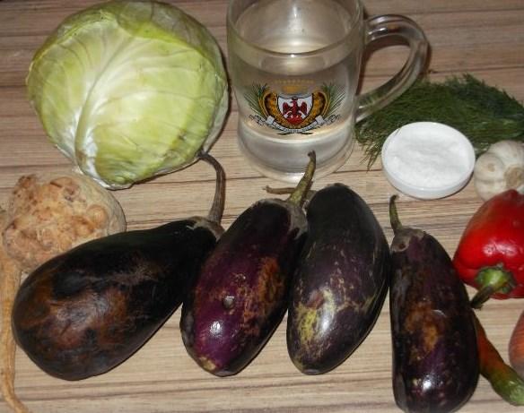 Рецепт Баклажаны соленые фаршированные