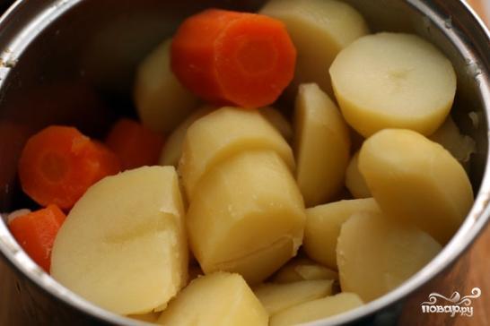 Картофельная запеканка с курицей и шпинатом - фото шаг 1