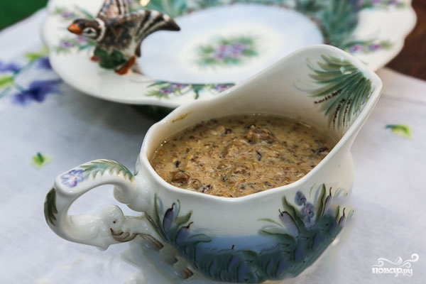 Сливочно-грибной соус для мяса - фото шаг 3