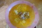 Суп из куриных потрохов с грибами