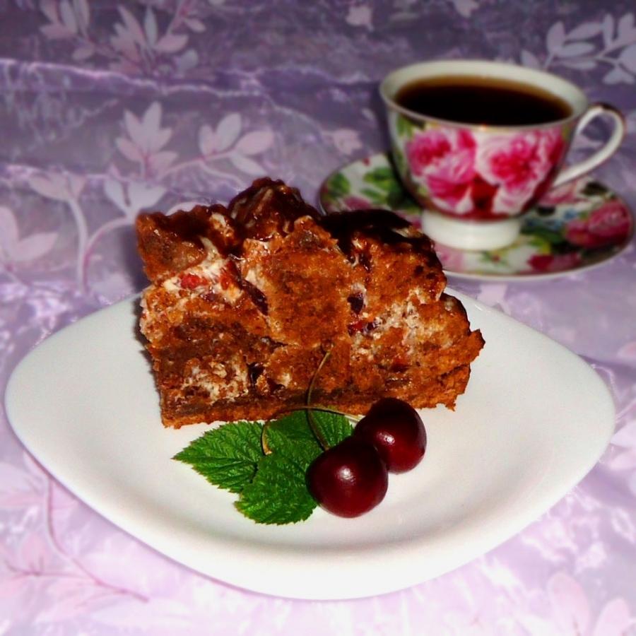 Торт Кучерявый пинчер с вишней - фото шаг 12