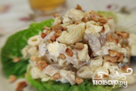 Рецепт Салат с курицей и макаронами