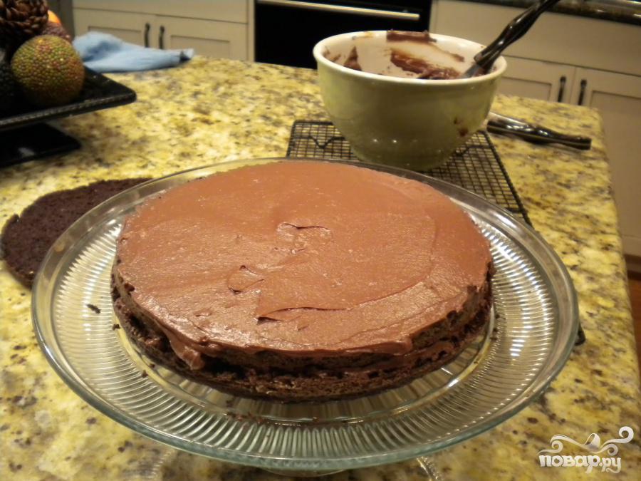 Шоколадный торт Черная вуаль - фото шаг 4